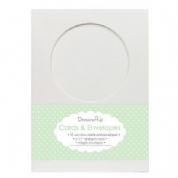 "Dovecraft Cards With Envelopes 5""X7"" Pk 10 - Round Window"